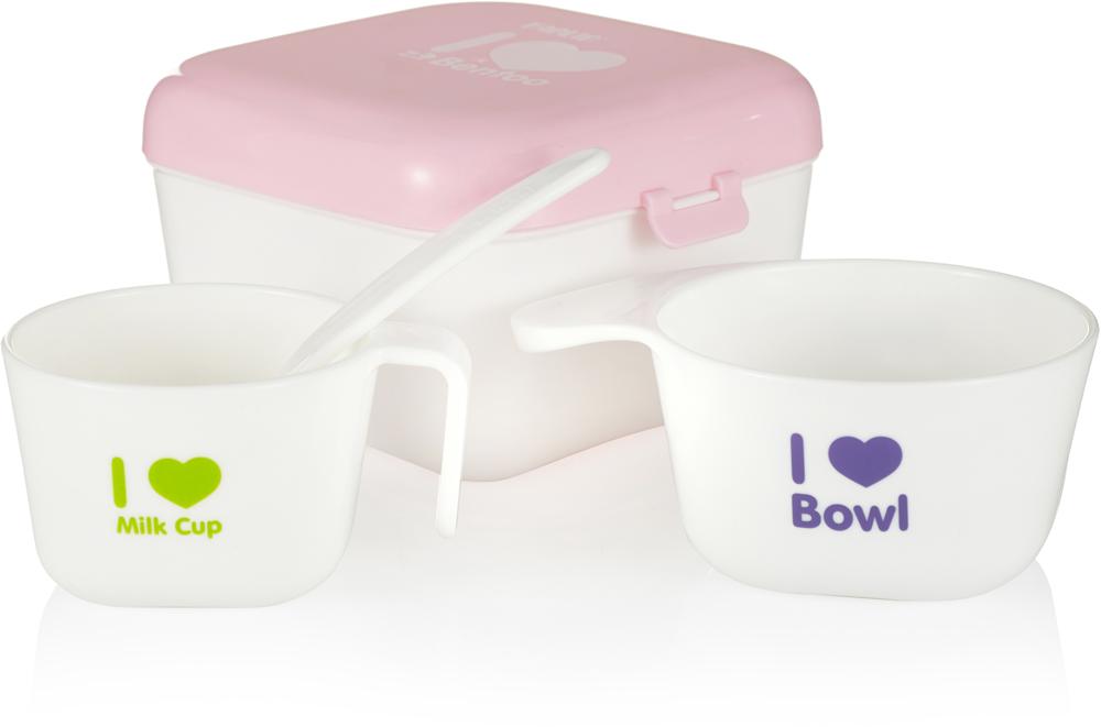 Farlin Полезный контейнер для еды с аксессуарами цвет розовый -  Все для детского кормления