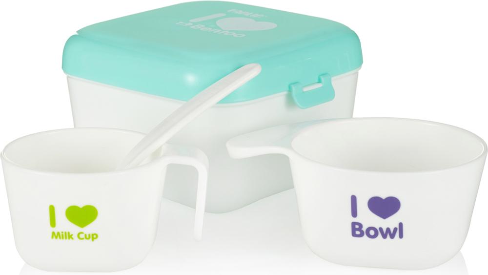 Farlin Полезный контейнер для еды с аксессуарами цвет зеленый -  Все для детского кормления