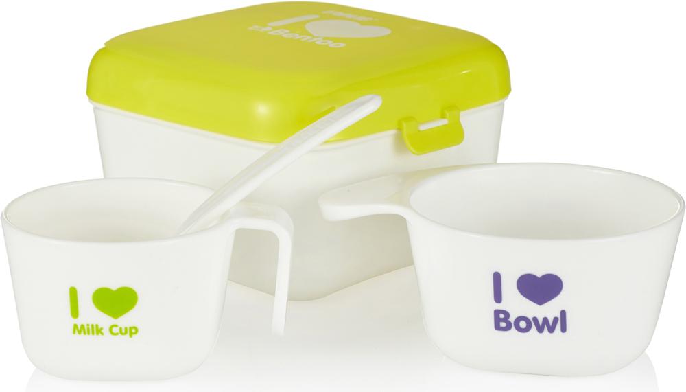 Farlin Полезный контейнер для еды с аксессуарами цвет желтый -  Все для детского кормления