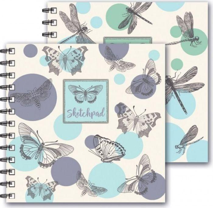 Феникс+ Альбом для эскизов Стрекозы 80 листов -  Бумага и картон