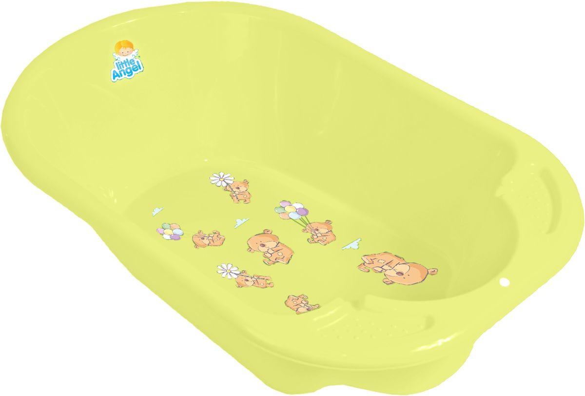 Little Angel Ванна детская Дельфин Bears цвет желтый -  Все для купания