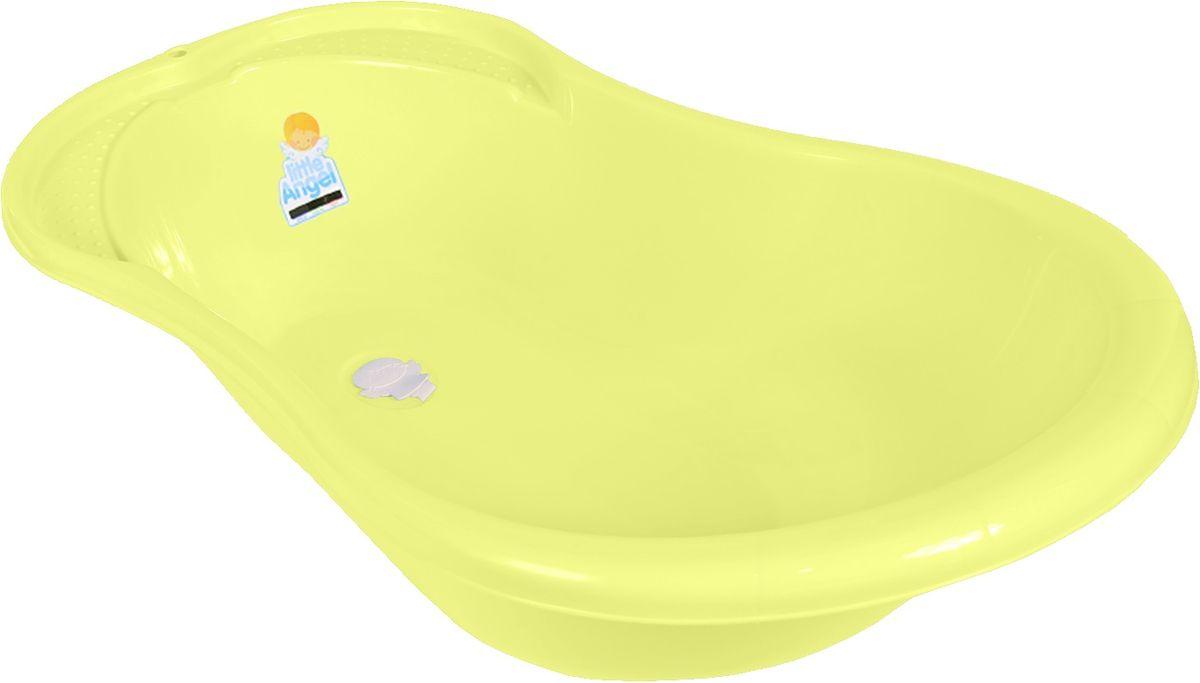 Little Angel Ванна детская Ангел со сливом и термометром цвет желтый -  Все для купания