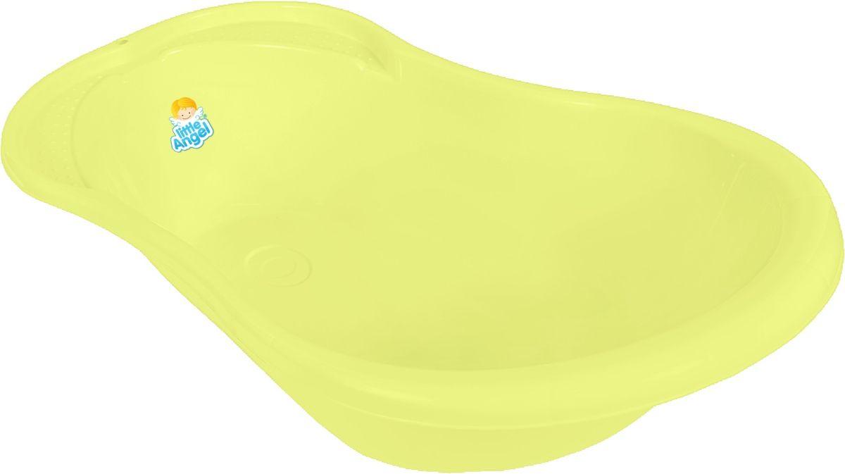 Little Angel Ванна детская Ангел с термометром цвет желтый -  Все для купания