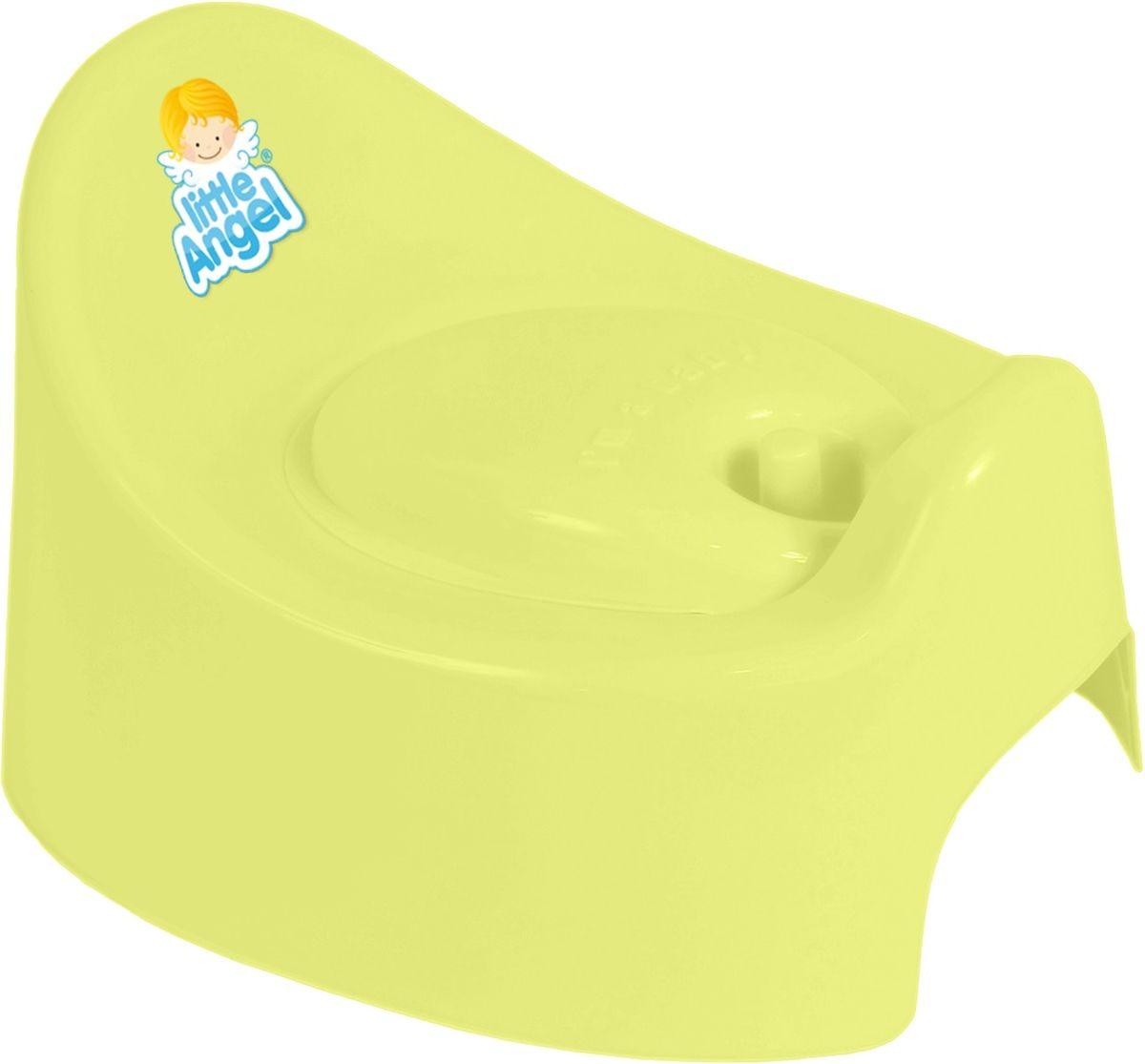 Little Angel Горшок детский I'm с крышкой цвет желтый -  Горшки и адаптеры для унитаза