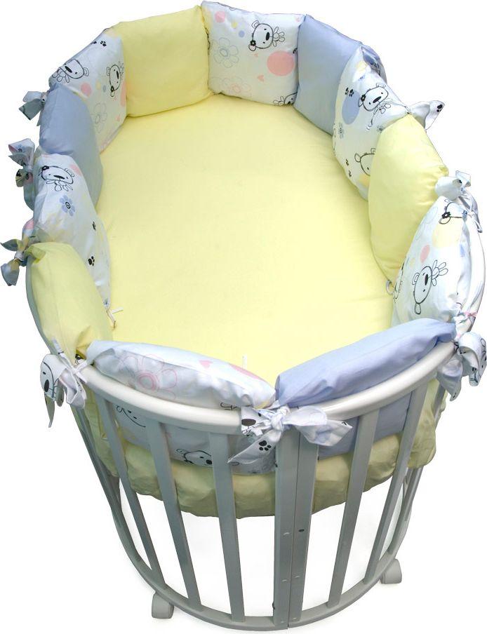 Сонный гномик Бортик для круглой кроватки Конфетти цвет голубой 12 частей -  Бортики, бамперы