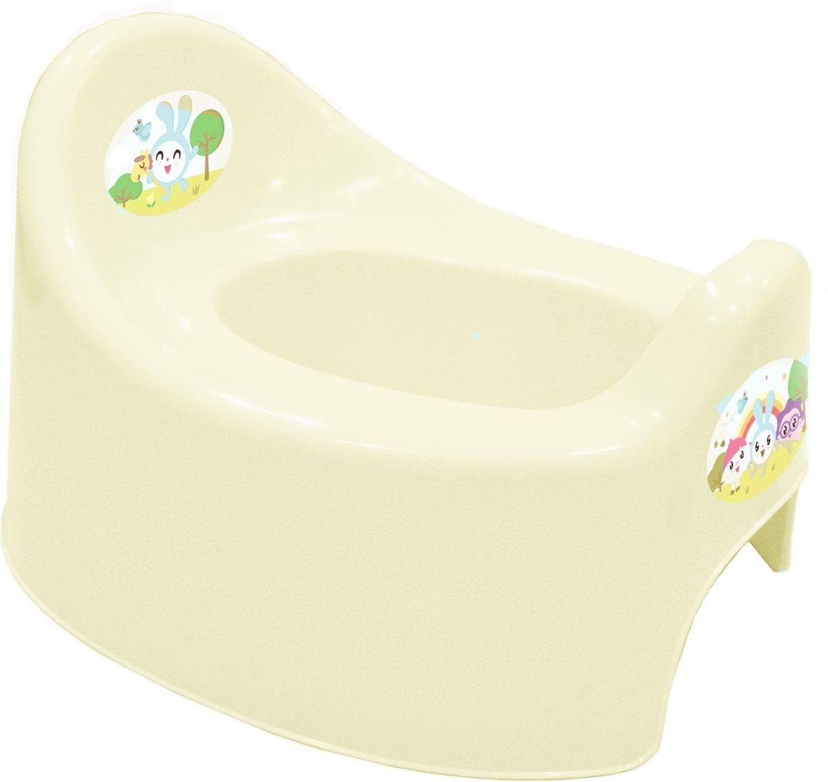 Little Angel Горшок детский I'm Малышарики цвет молочный -  Горшки и адаптеры для унитаза
