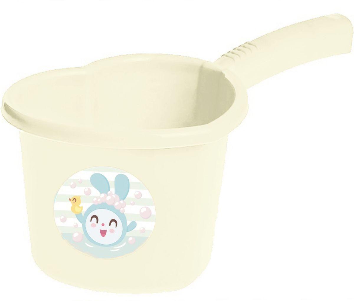 Little Angel Ковшик детский Малышарики цвет молочный -  Все для купания