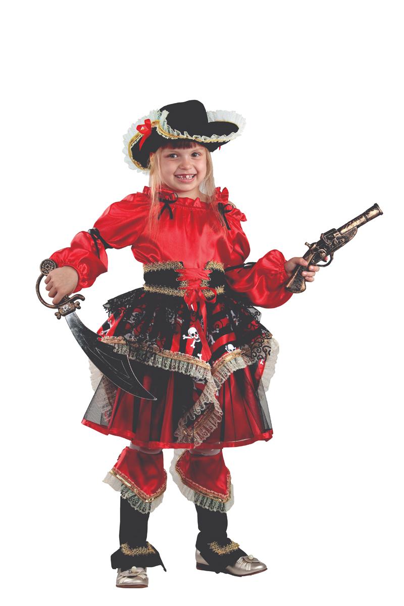 Батик Костюм карнавальный для девочки Пиратка цвет красный размер 38 -  Карнавальные костюмы и аксессуары