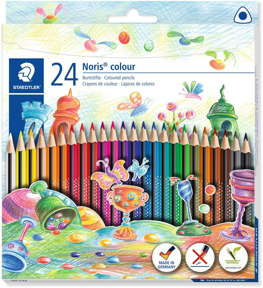 Staedtler Набор цветных карандашей Noris Colour Wopex 24 цвета -  Карандаши