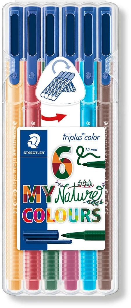 Staedtler Набор фломастеров Triplus Color Натуральные цвета 6 цветов -  Фломастеры