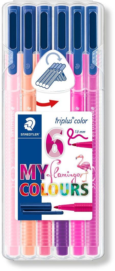 Staedtler Набор фломастеров Triplus Color Фламинго 6 цветов -  Фломастеры