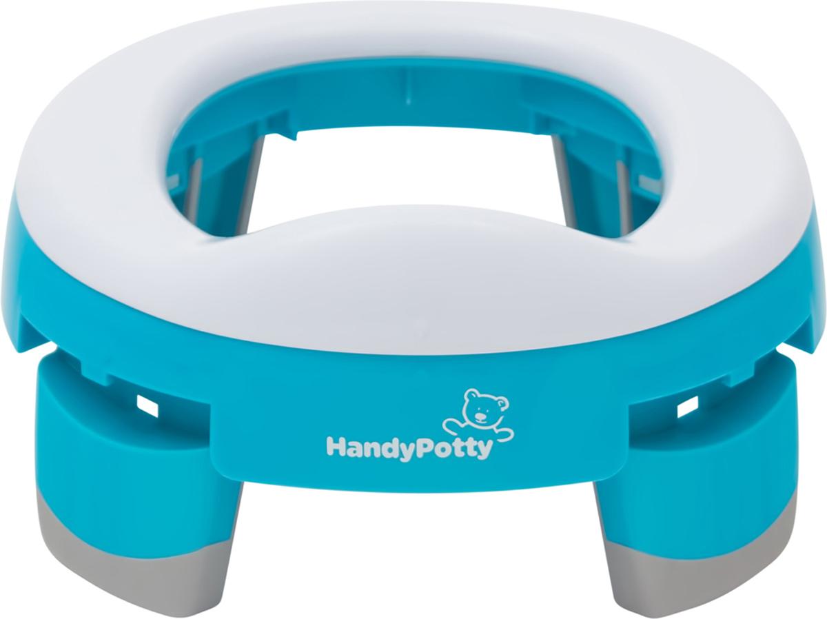 Roxy-kids Дорожный горшок и насадка на унитаз HandyPotty цвет голубой -  Горшки и адаптеры для унитаза
