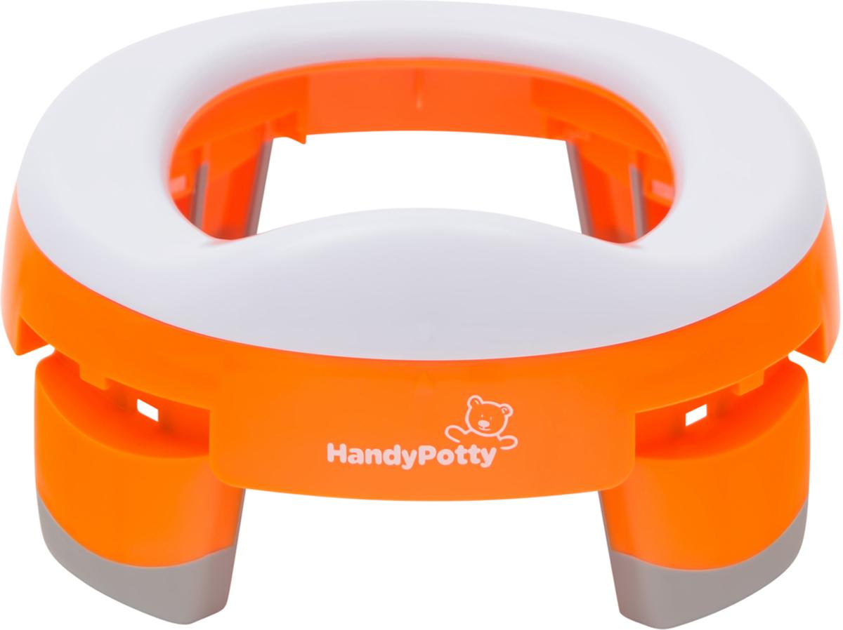 Roxy-kids Дорожный горшок и насадка на унитаз HandyPotty цвет коралловый -  Горшки и адаптеры для унитаза