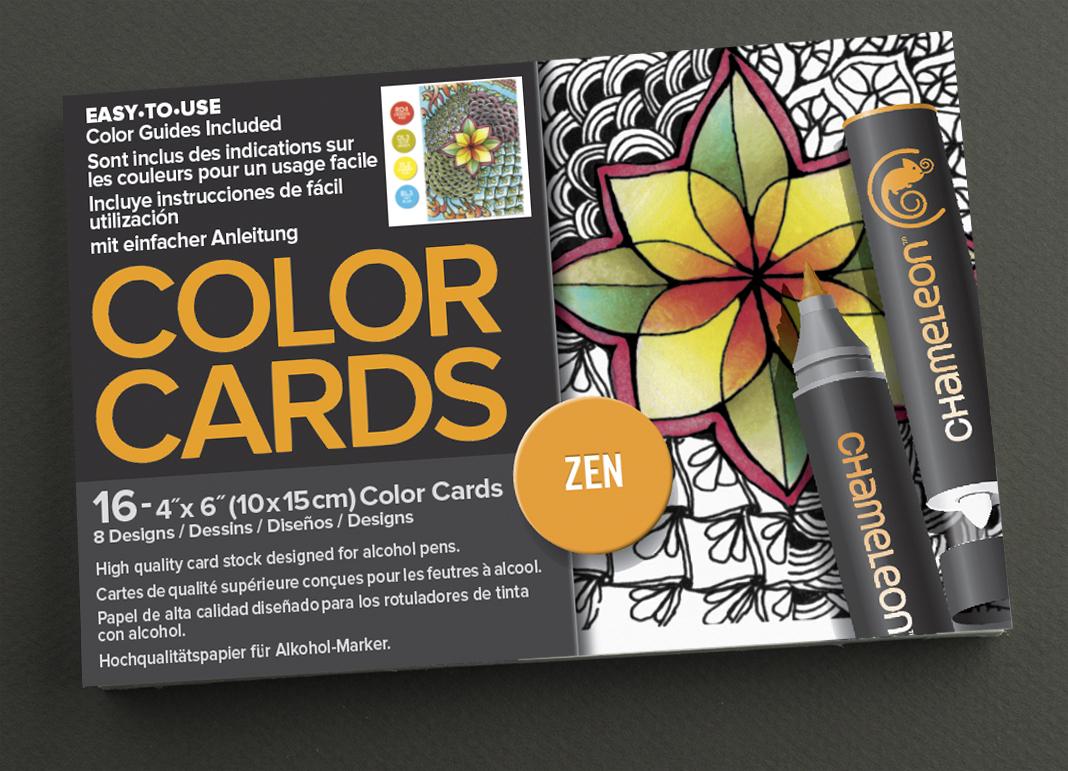 Chameleon Раскраска-склейка Zen -  Бумага и картон
