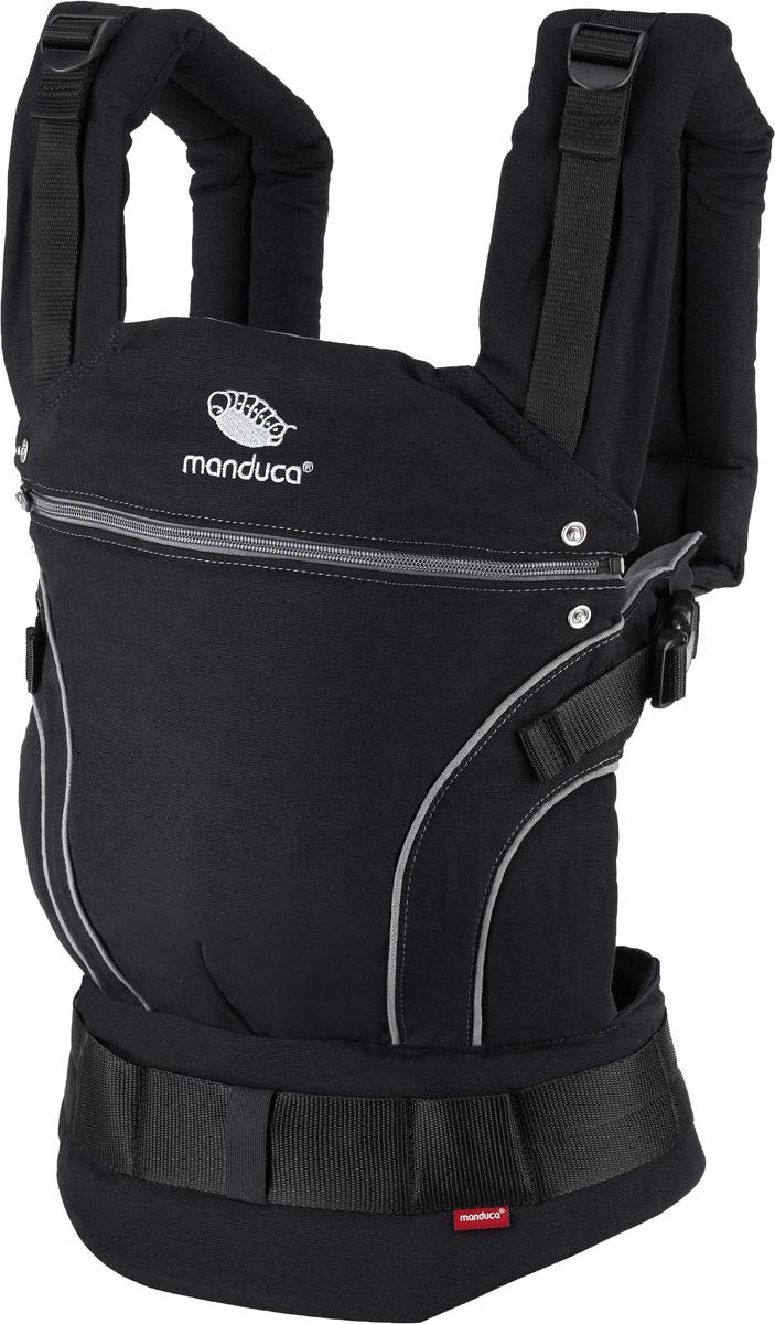 Manduca Рюкзак-переноска BlackLine в комплекте с накладками цвет серый -  Рюкзаки, слинги, кенгуру