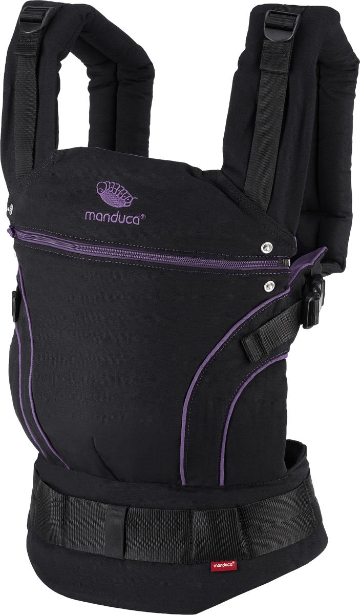 Manduca Рюкзак-переноска BlackLine в комплекте с накладками цвет лиловый -  Рюкзаки, слинги, кенгуру