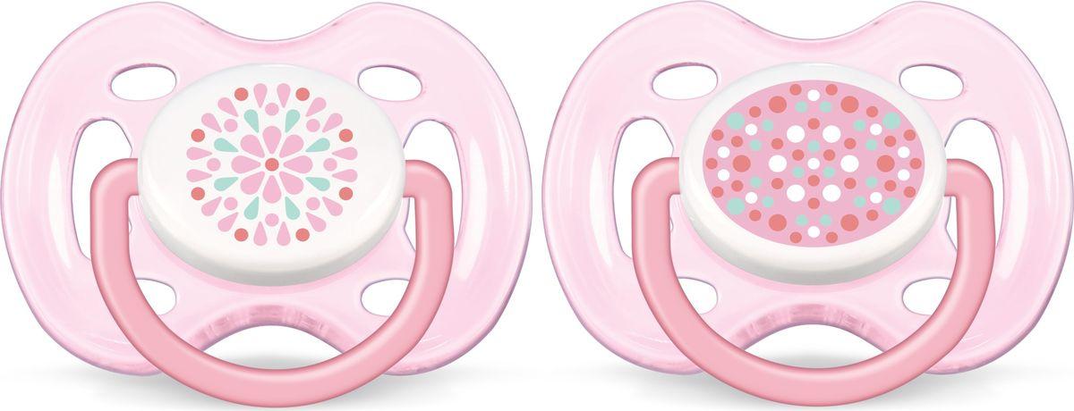 Philips Avent Пустышка силиконовая FreeFlow от 0 до 6 месяцев 2 шт SCF180/26 -  Все для детского кормления