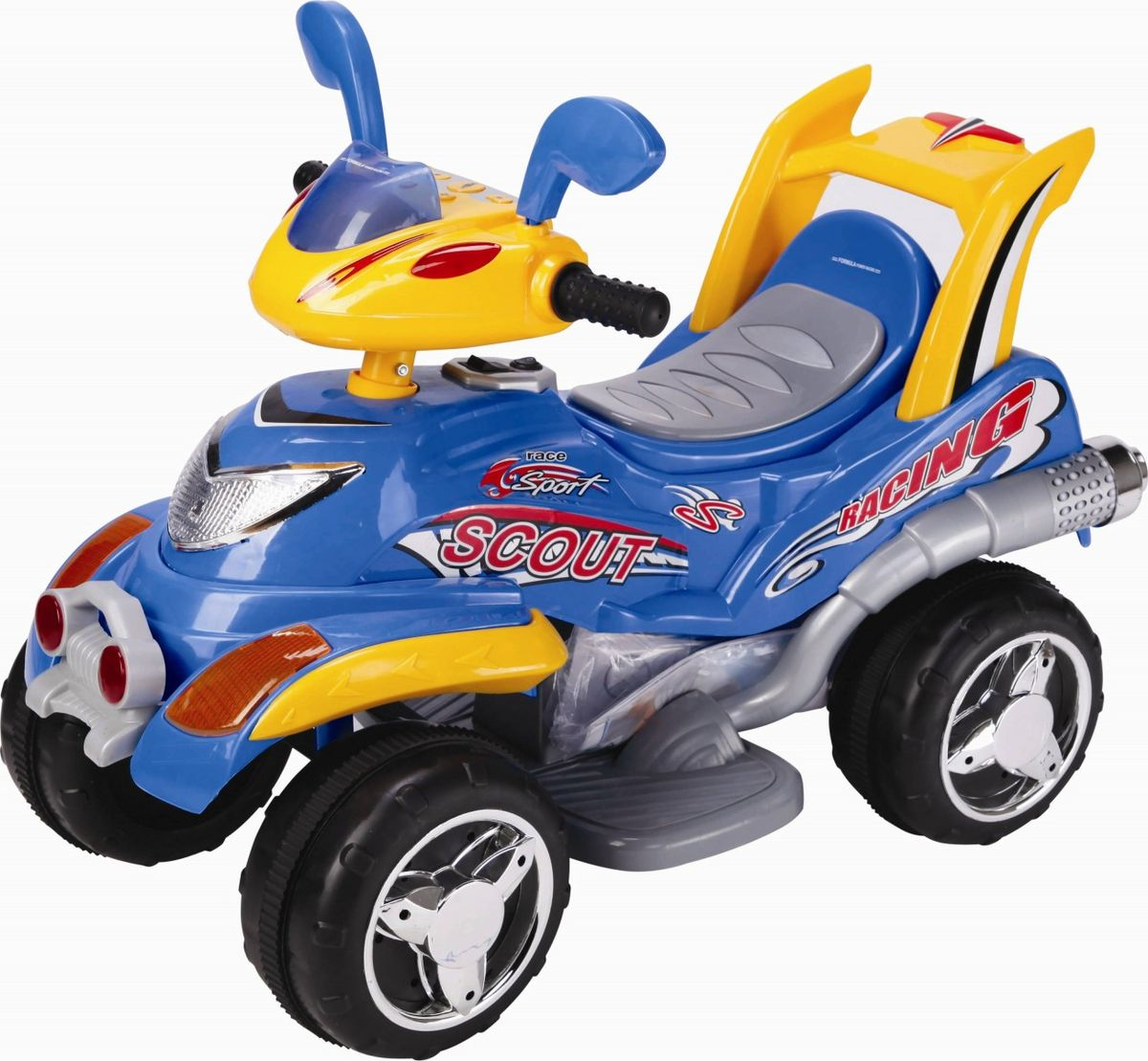 Квадроцикл на аккумуляторе цвет синий CH9912 -  Электромобили