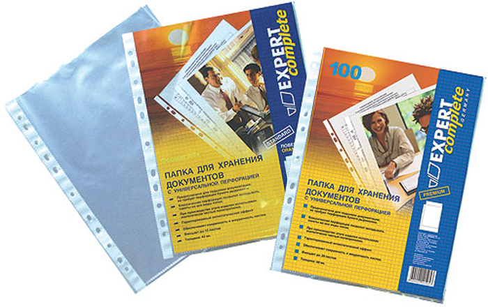 Expert Complete Файл-вкладыш с перфорацией формат А4 100 шт 220405 -  Файлы и разделители