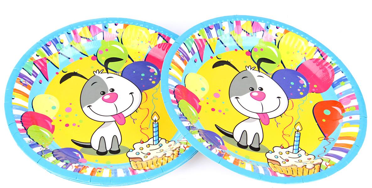 Веселый хоровод Набор тарелок Счастливый Шарик 23 см 6 шт -  Сервировка праздничного стола