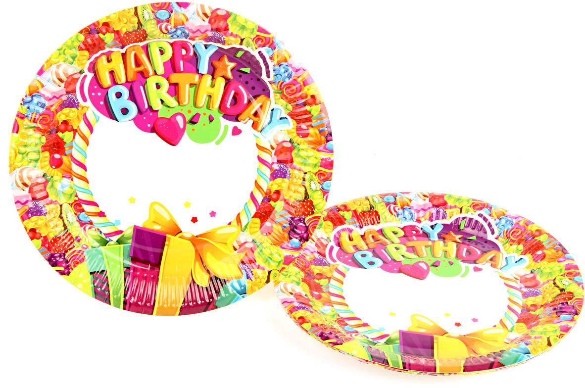Веселый хоровод Набор тарелок Карамелька 23 см 6 шт -  Сервировка праздничного стола