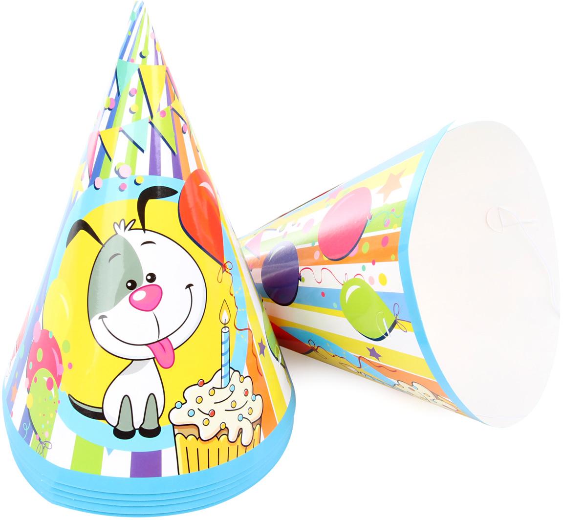 Веселый хоровод Набор колпаков Счастливый Шарик 20 см 6 шт KL53497 -  Колпаки и шляпы
