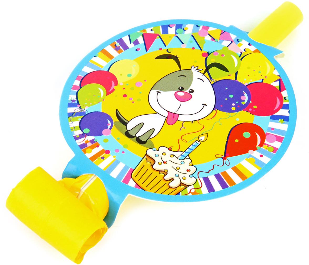 Веселый хоровод Набор язычков Счастливый Шарик 6 шт -  Аксессуары для детского праздника