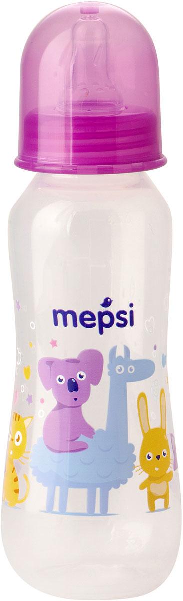 Mepsi Бутылочка для кормления с силиконовой соской от 0 месяцев 250 мл -  Бутылочки