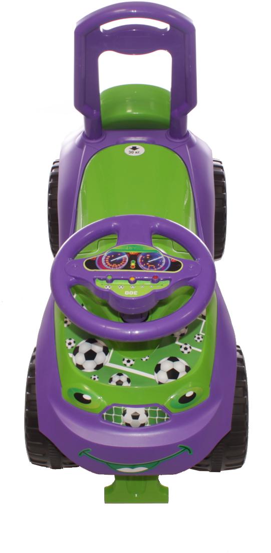 Doloni Машинка-каталка Автошка, цвет зеленый фиолетовый -  Каталки, понициклы