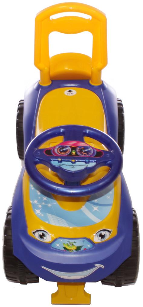 Doloni Машинка-каталка Автошка, цвет фиолетовый желтый -  Каталки, понициклы