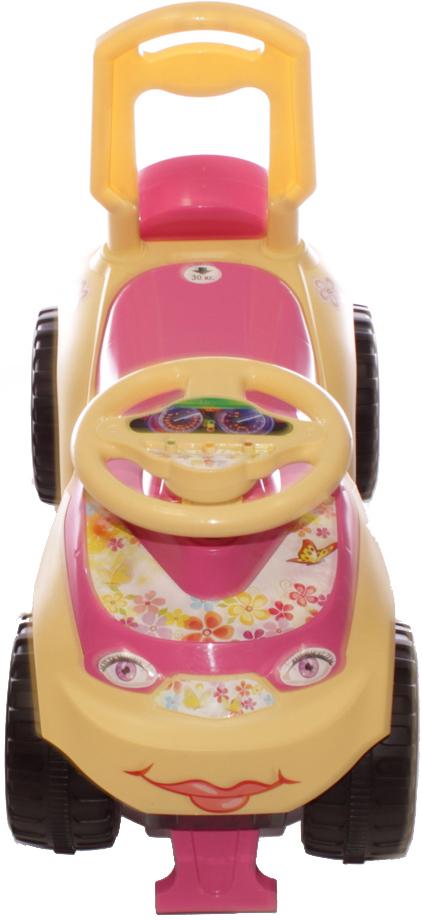Doloni Машинка-каталка Автошка, цвет бежевый розовый -  Каталки, понициклы