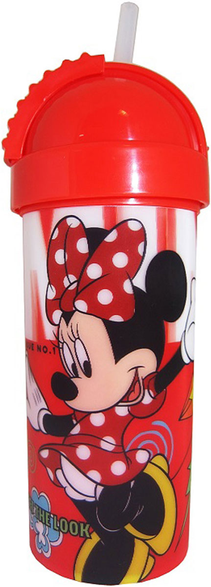Disney Фляга детская Минни с крышкой и трубочкой 400 мл -  Бутылочки