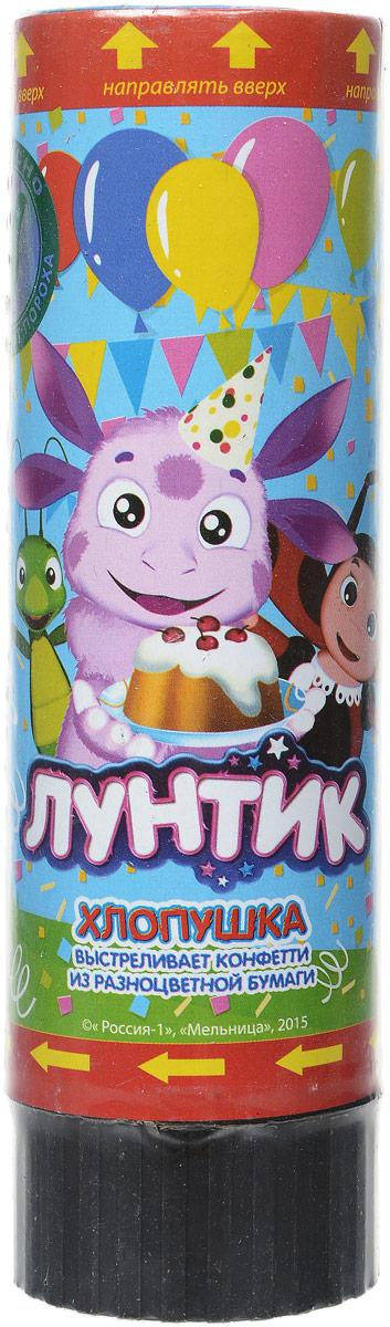 Играем вместе Хлопушка Веселый праздник Лунтик POP-15-LNT-1 -  Хлопушки бумфети