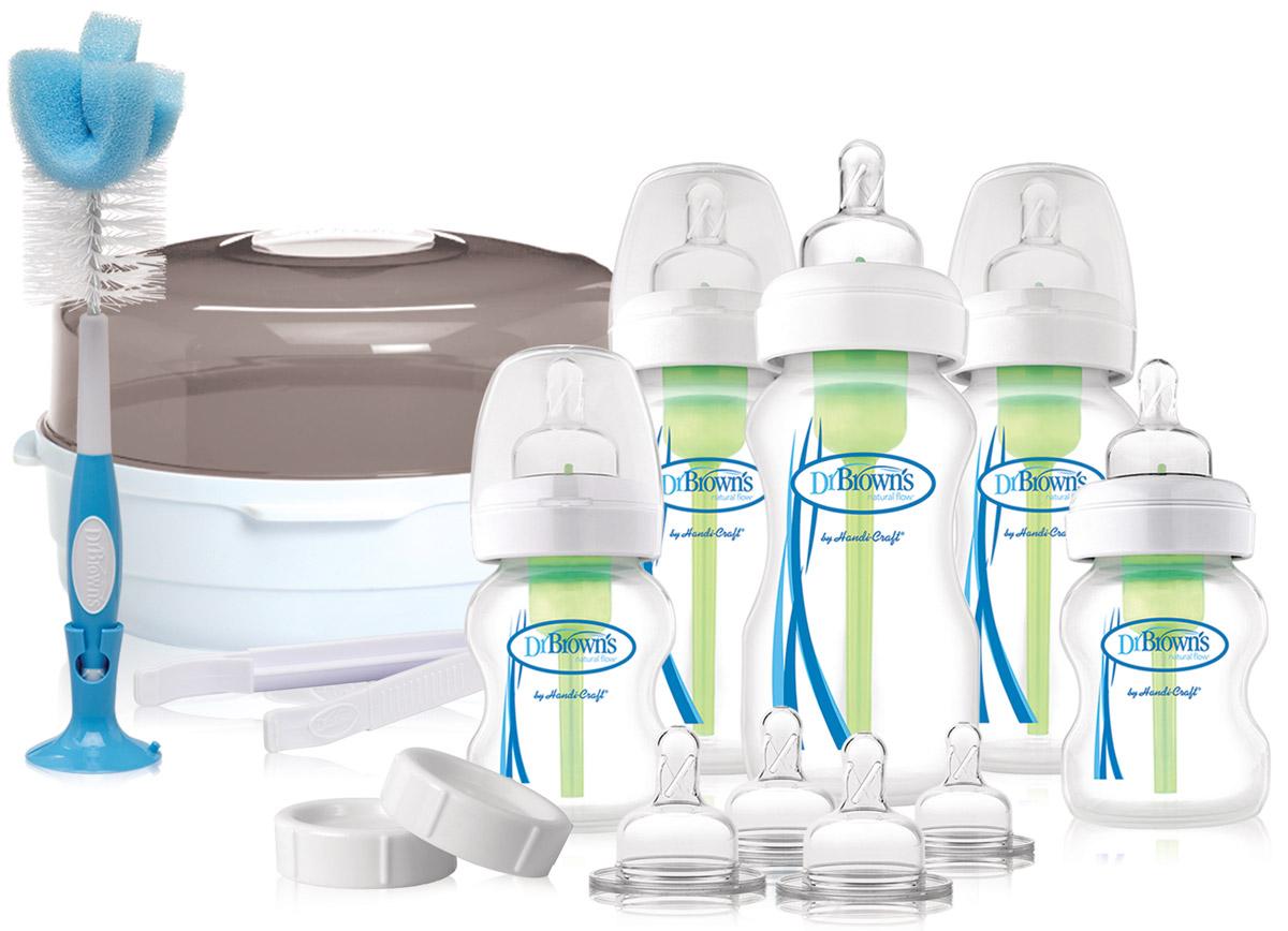 Dr. Brown's Подарочный набор Делюкс контейнер + 5 бутылочек (3x270 мл, 2x150 мл) -  Бутылочки