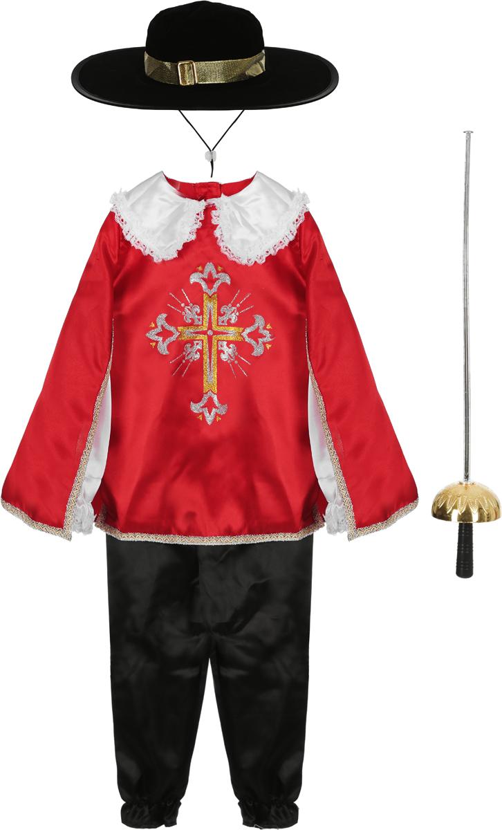 Батик Костюм карнавальный для мальчика Мушкетер цвет красный размер 34 -  Карнавальные костюмы и аксессуары