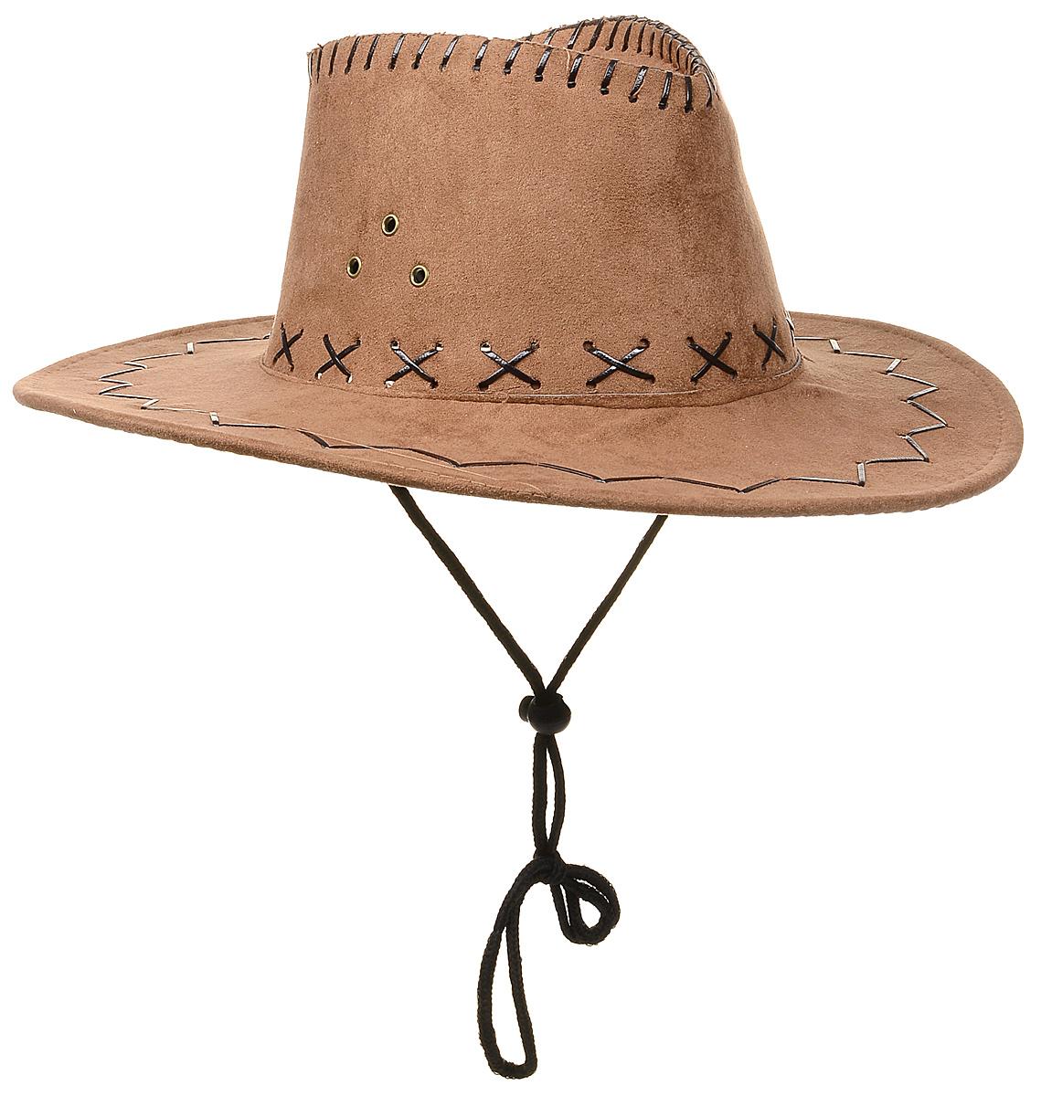 Маскарадная шляпа  Ковбой , цвет: светло-коричневый. 31335 -  Карнавальные костюмы и аксессуары