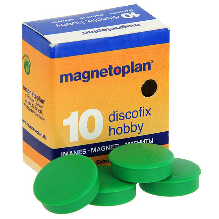 Магниты Hobby, цвет: зеленый, 10 шт -  Аксессуары для досок и флипчартов