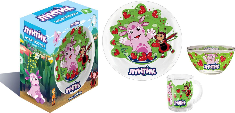 Лунтик Набор детской посуды цвет зеленый 3 предмета -  Все для детского кормления
