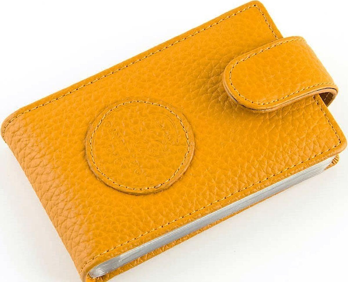 Визитница горизонтальная женская Topo Fortunato, цвет: желтый. 102-101 -  Визитницы