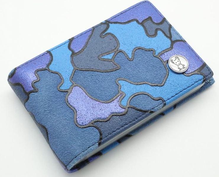 Визитница горизонтальная женская Topo Fortunato  Милитари , цвет: синий. 723-101 -  Визитницы