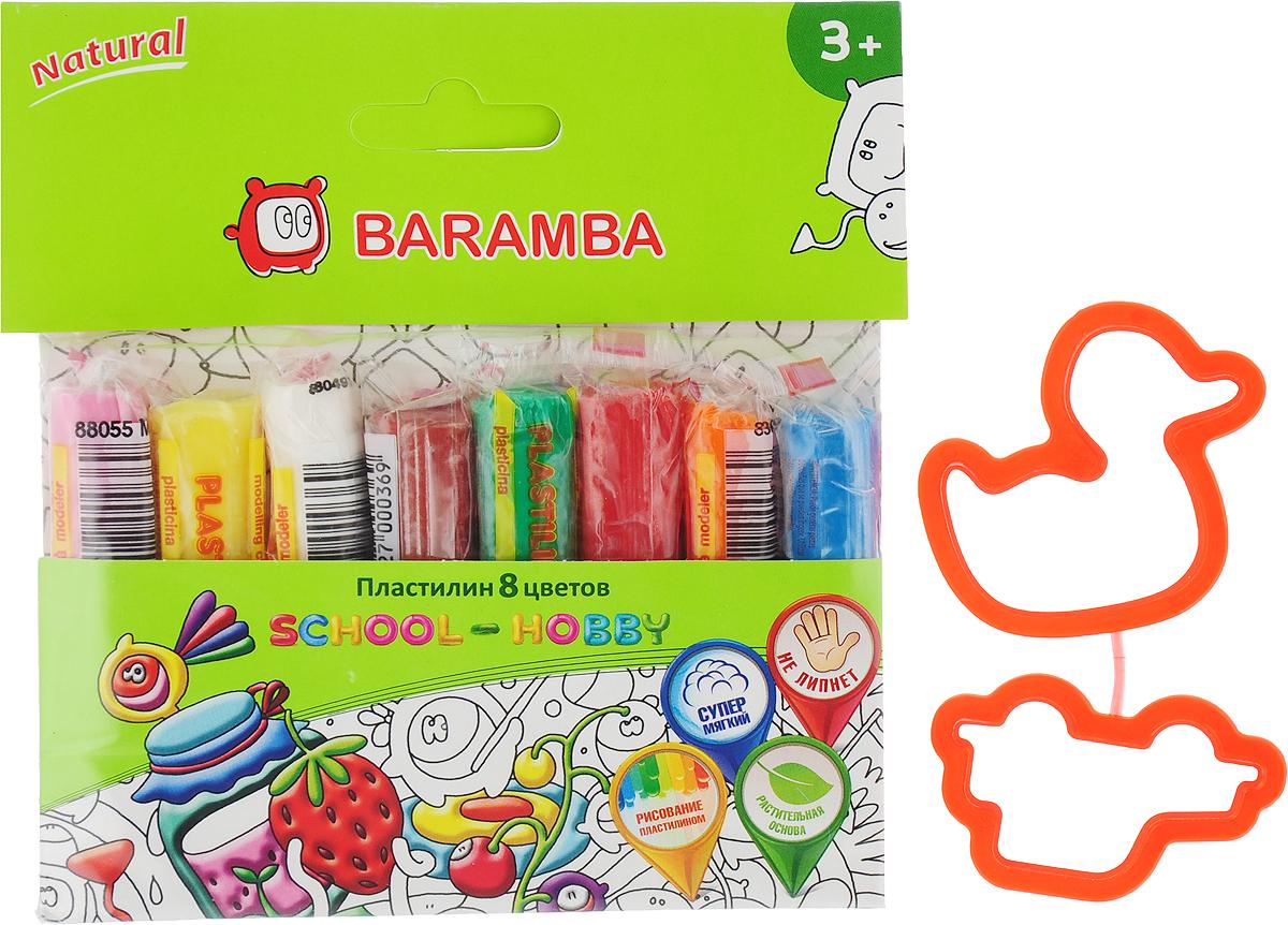 Пластилин на натуральной основе  Baramba , с пищевыми красителями, 8 цветов -  Пластилин