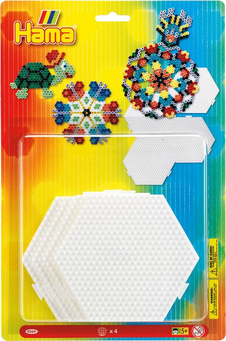 Hama Основы для термомозаики Шестиугольники соединяющиеся 4 шт -