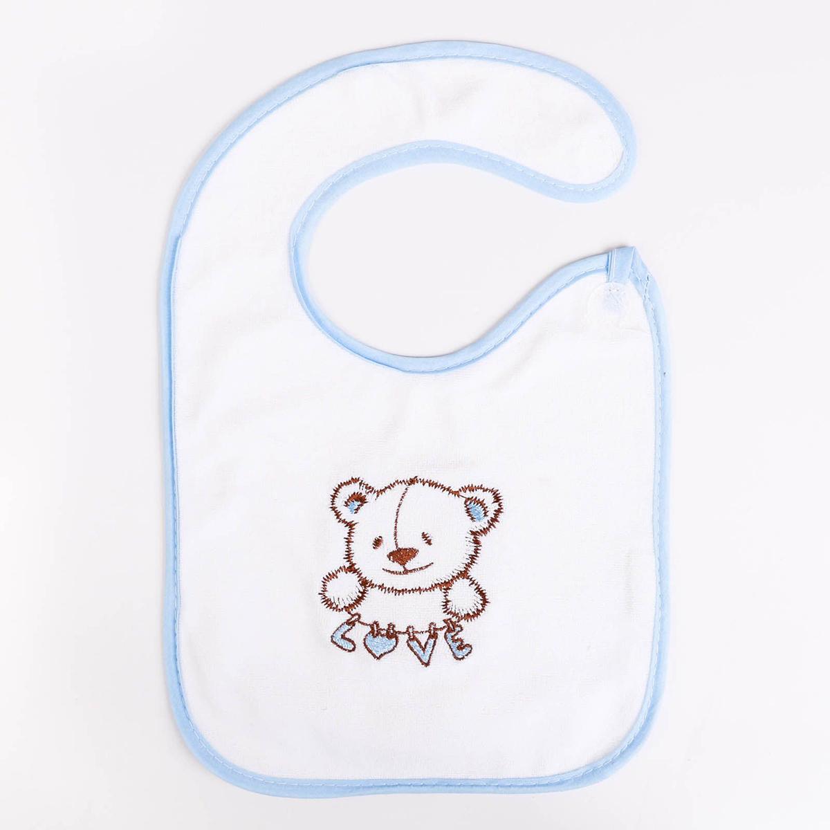 Крошка Я Нагрудник Мишки цвет голубой -  Все для детского кормления