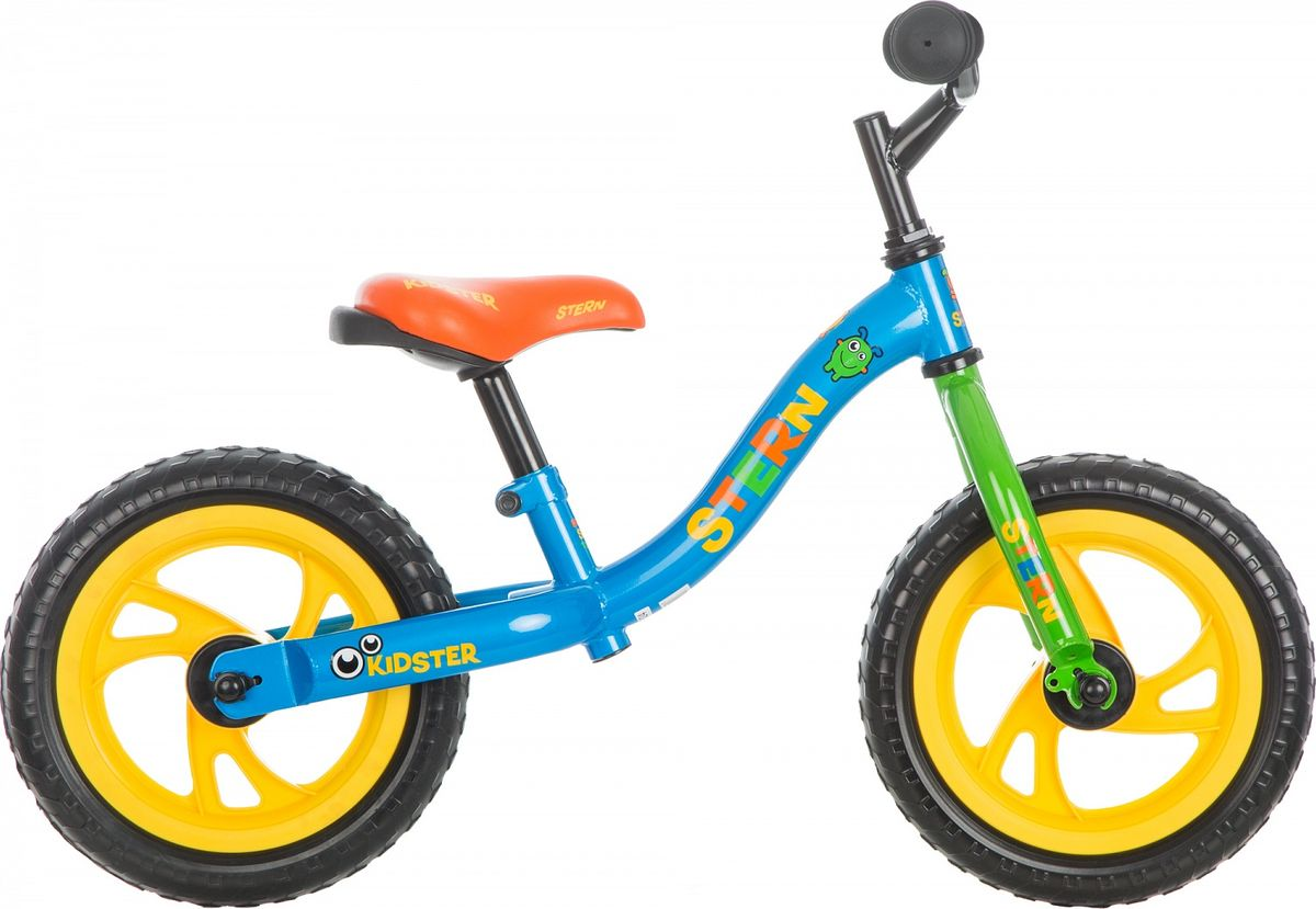 Беговел Stern  Kidster Boy Junior , цвет: синий, белый, зеленый, колесо 12  -  Беговелы