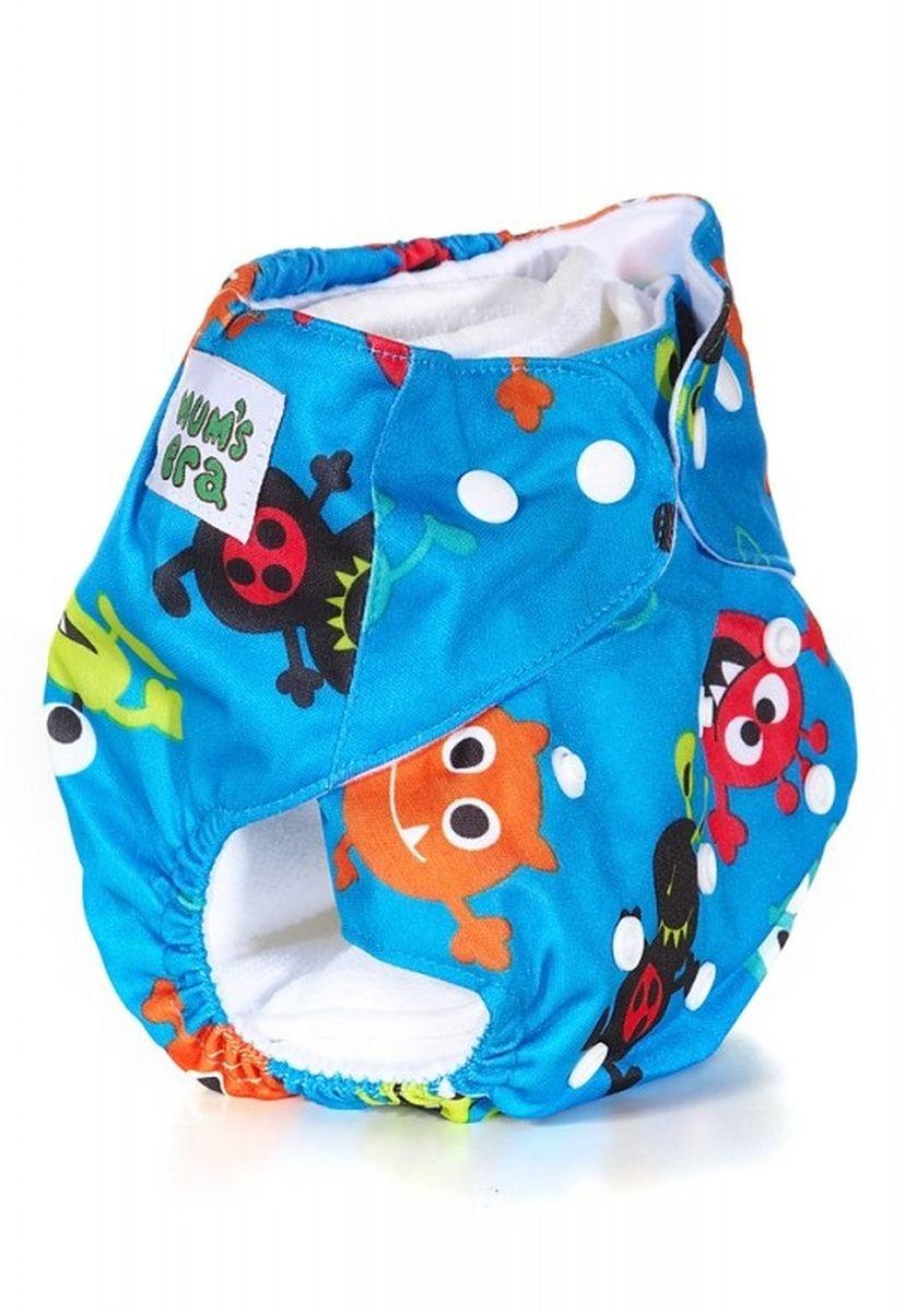 Mum's Era Многоразовый подгузник Лунатики 3-13 кг + один вкладыш -  Подгузники и пеленки