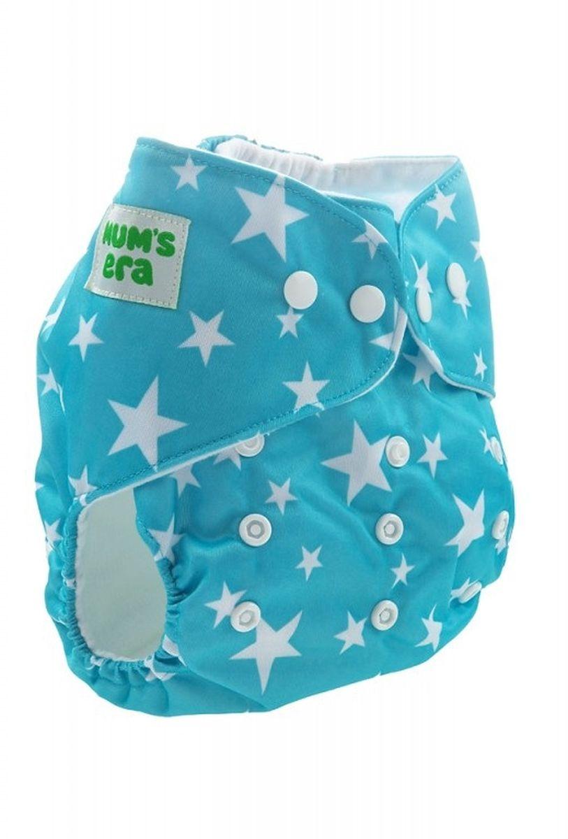 Mum's Era Многоразовый подгузник Звездочки 3-13 кг цвет бирюзовый + один вкладыш -  Подгузники и пеленки