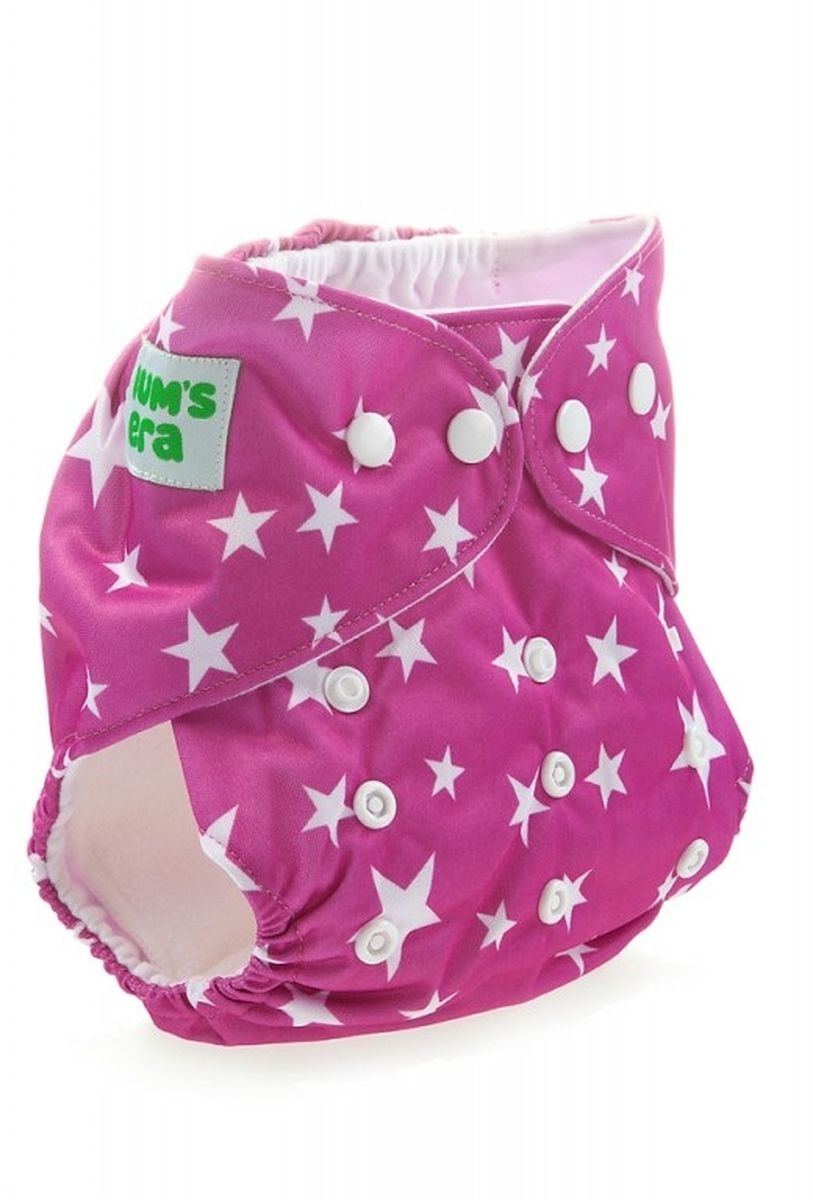 Mum's Era Многоразовый подгузник Звездочки 3-13 кг цвет сиреневый + один вкладыш -  Подгузники и пеленки