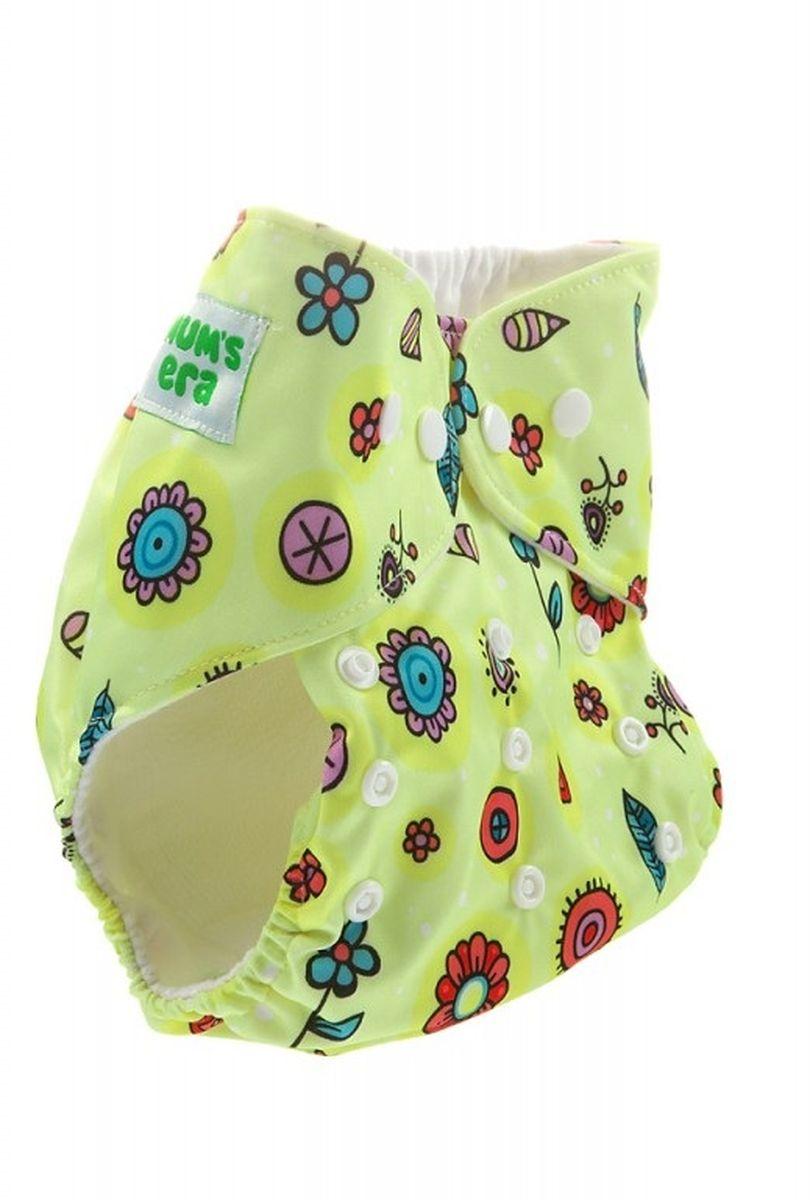 Mum's Era Многоразовый подгузник Цветочки 3-13 кг + один вкладыш -  Подгузники и пеленки