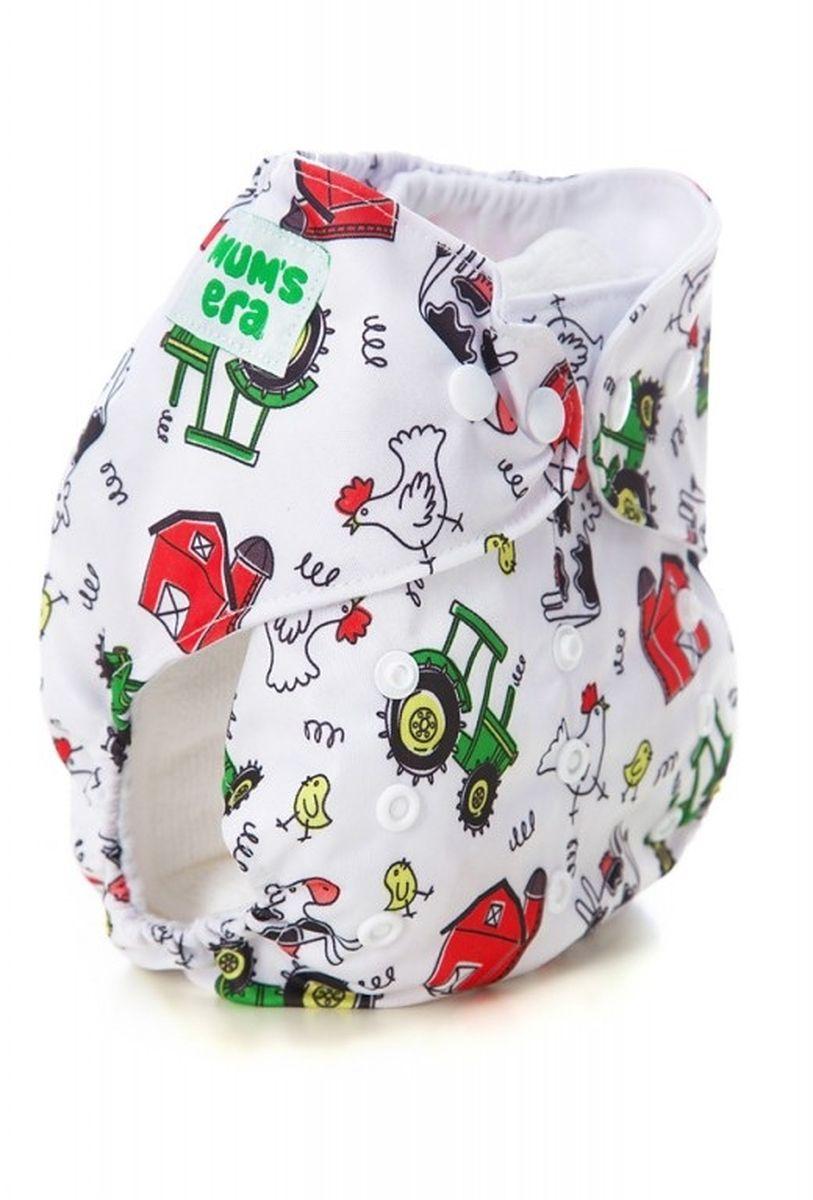 Mum's Era Многоразовый подгузник Ферма 3-13 кг + один вкладыш -  Подгузники и пеленки