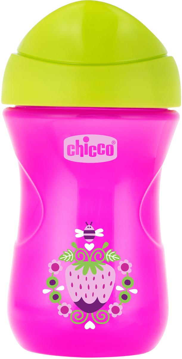 Chicco Чашка-поильник Easy Cup Клубничка от 12 месяцев цвет розовый 266 мл -  Поильники